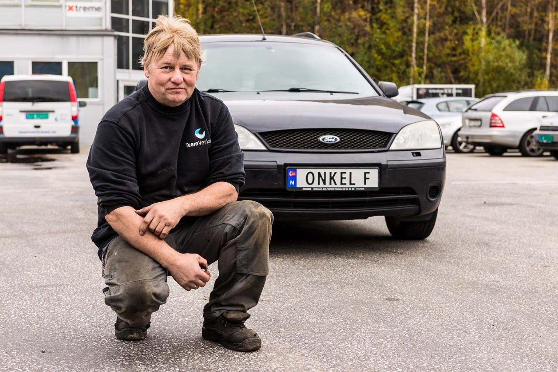 Frank Ramsland har skaffet seg personlig bilskilt